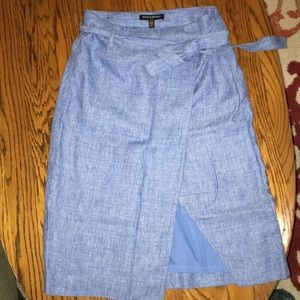 Banana Republic Skirts - Feathered Blue: Below the knee skirt